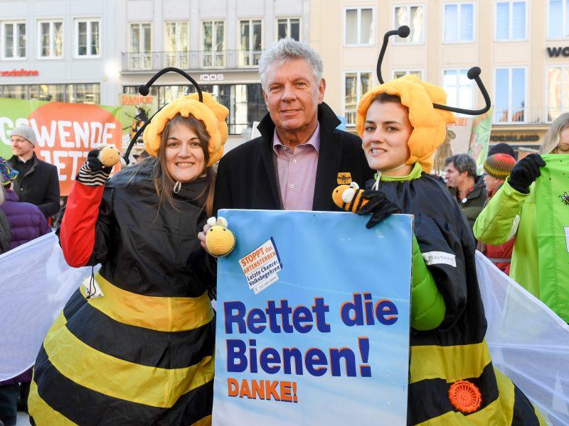 Auftaktveranstaltung für das Volksbegehren Artenvielfalt in München am 31.01.2019 - Münchens Oberbürgermeister Dieter Reiter macht sich für Bienen & Artenvielfalt stark  Bildnachweis: © Tobias Hase